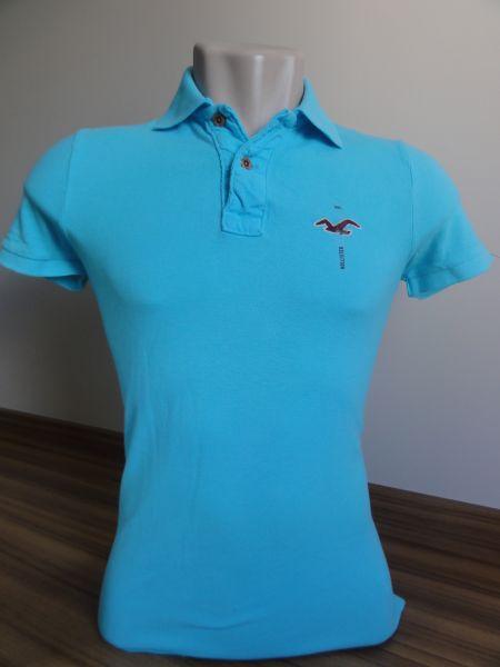 Camisa Polo Masculina Hollister Azul bebê Tam. M - Meus ...