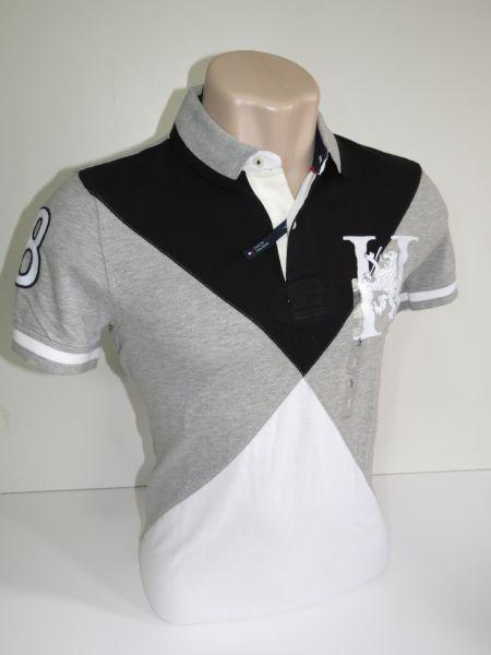 Camisa Polo Masculina Tommy Hilfiger Preta e cinza Tam P - Meus ... 044cceb1c4715