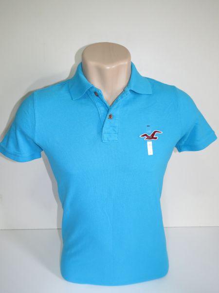 2e7269282e Camisa Polo Masculina Hollister Azul Água Tam M - Meus Importados USA