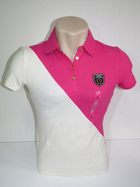 Camisa Polo Feminina Tommy Rosa e bege Tam M - Meus Importados USA 3d087356a39ca