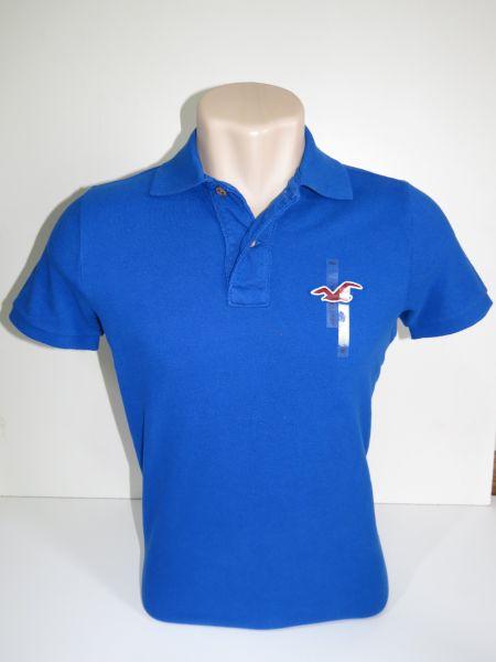 e089b4f9d2 Camisa Polo Masculina Hollister Azul Royal Tam M - Meus Importados USA