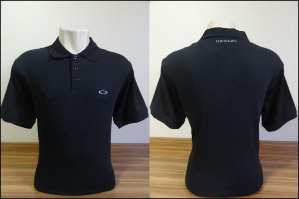 Camisa Polo Oakley Masculina Preta Tam. GG - Meus Importados USA 5a4322299fe3f