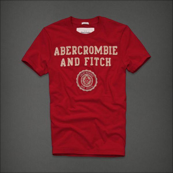 Camiseta Masculina Abercrombie Vermelha Tam. G - Meus Importados USA f0220ee99a0bc