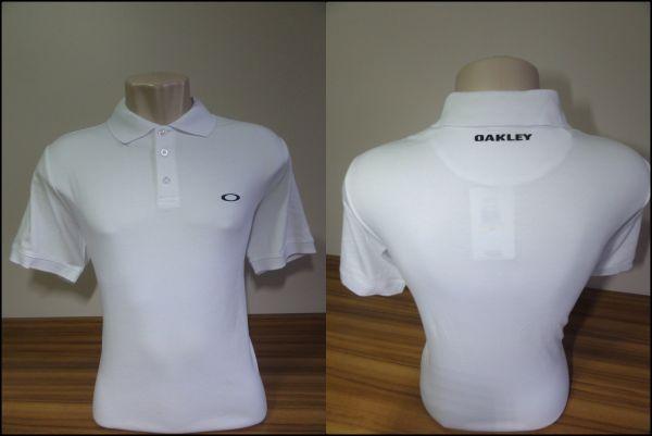 Camisa Polo Oakley Masculina Branca Tam. M - Meus Importados USA c7b8166ed07fb