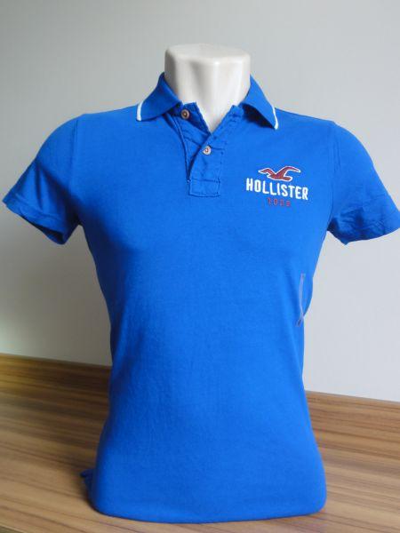 c4043af3af Camisa Polo Masculina Hollister Azul Royal Tam. P - Meus Importados USA