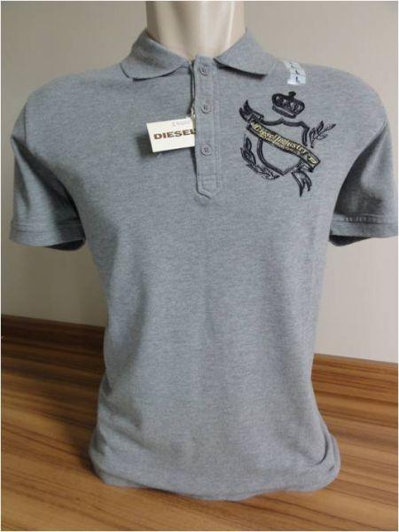 Camisa Polo Masculina DIESEL Cinza Tam. G - Meus Importados USA 82cf7605ac110