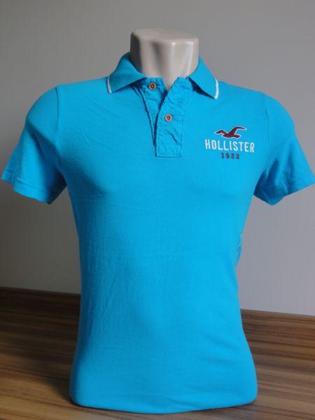 258743341 Camisa Polo Azul Masculina Hollister Turquesa Tam. M - Meus ...