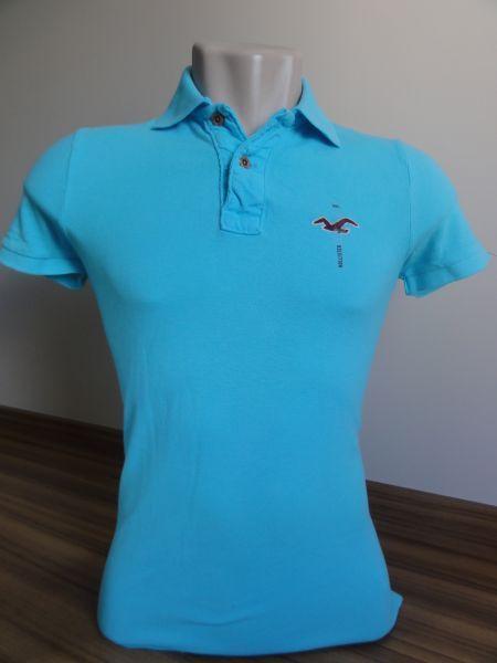 543d283a6f Camisa Polo Masculina Hollister Azul Bebê Tam. P - Meus Importados USA